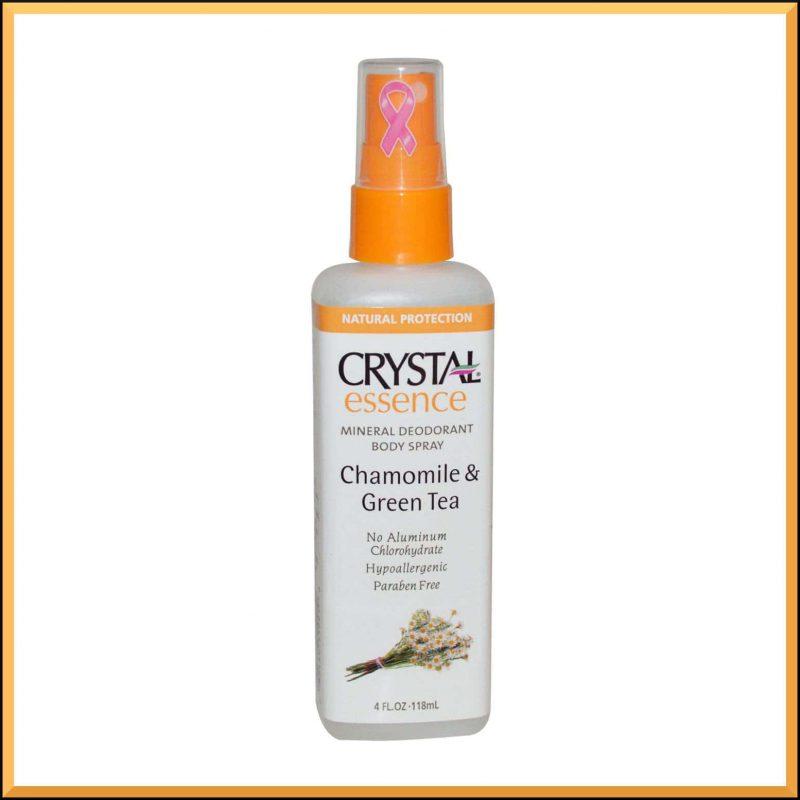 "Déodorant vegan spray ""Camomille et Thé vert"" - Crystal Body Deodorant"