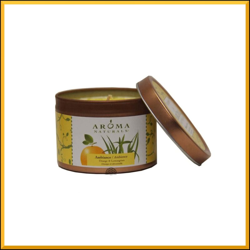 "Bougie ""Ambiance"" Orange & Citronnelle 79gr - Aroma Naturals"
