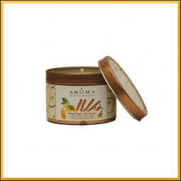 """Peace Pearl"" Bougie vegan & naturelle senteur orange girofle cannelle 79gr"
