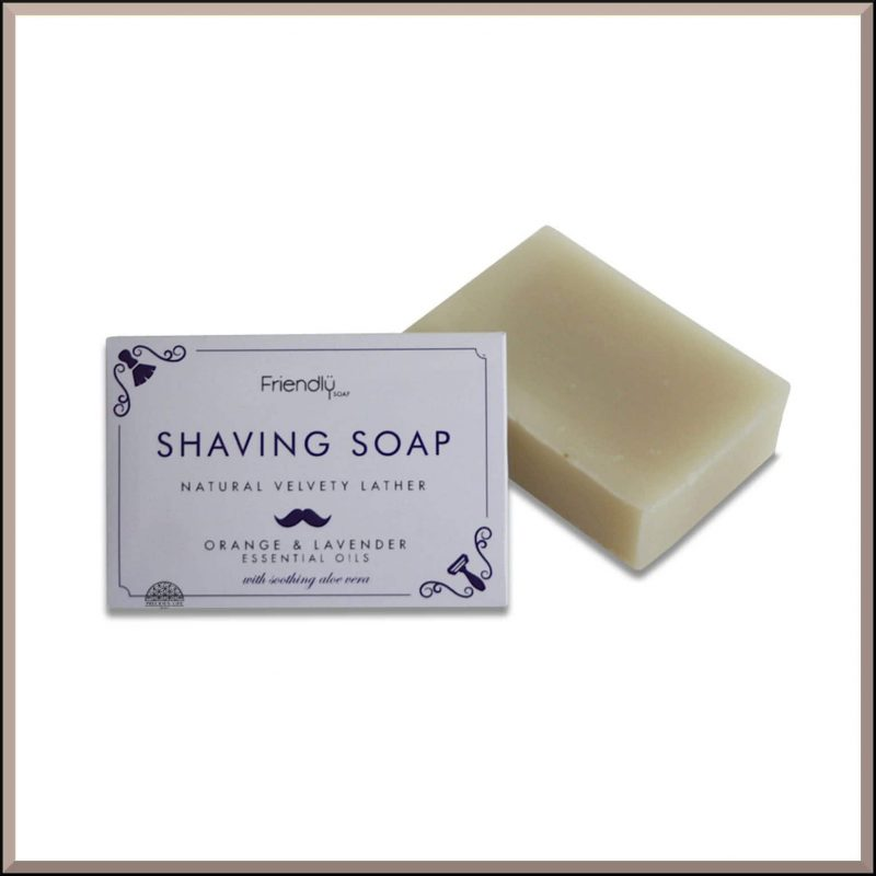 "Savon à barbe SAF ""Orange & Lavande"" 95gr - Friendly Soap"