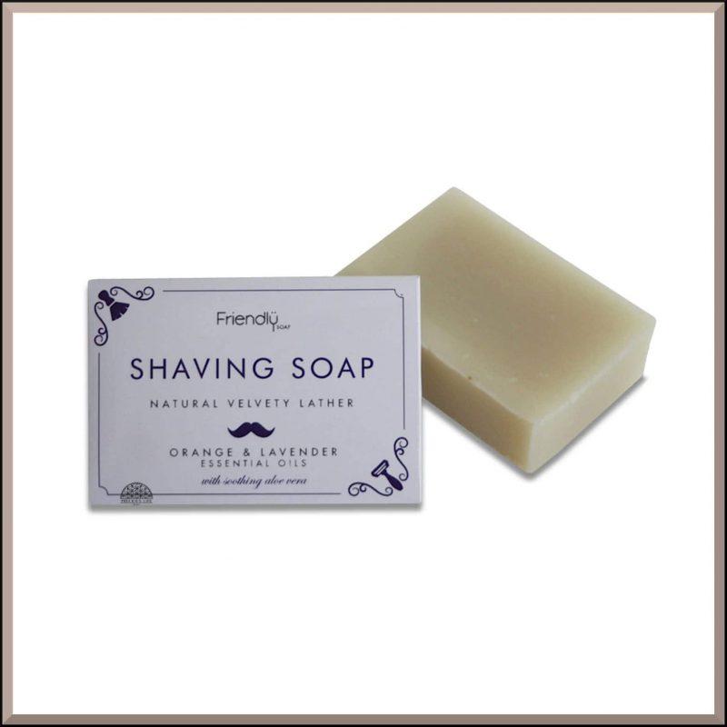 "Savon à barbe SAF ""Orange & Lavande"" 95gr - Friendly Soap"