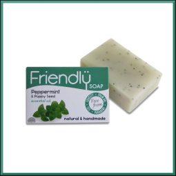 """Savon exfoliant SAF """"Menthe poivrée & Graines de pavot"""" 95gr - Friendly Soap"""