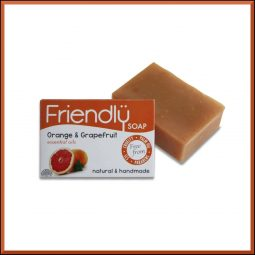 Savon SAF vegan & naturel à l'orange et au pamplemousse 95gr