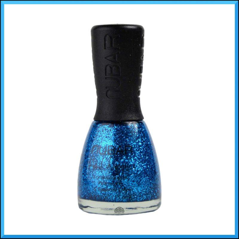 """Vernis à ongles """"Disco Blue Glitter"""" 15ml - Nubar"""