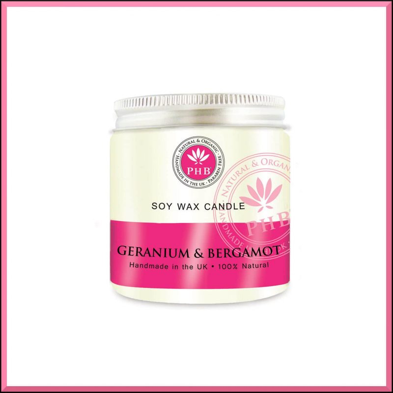 "Bougie ""Géranium & Bergamote"" 118gr - PHB Ethical Beauty"