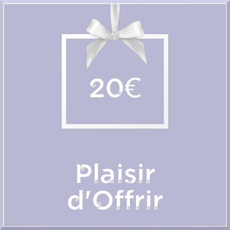 """Carte cadeau vegan """"Plaisir d'Offrir"""" 20€ - Precious Life"""