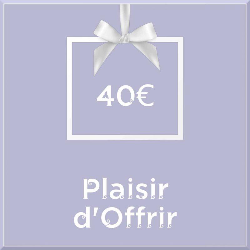 """Carte cadeau vegan """"Plaisir d'Offrir"""" 40€ - Precious Life"""