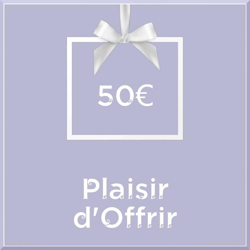 """Carte cadeau vegan """"Plaisir d'Offrir"""" 50€ - Precious Life"""