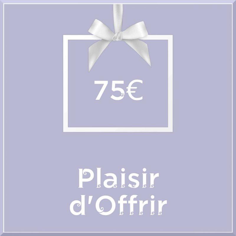"""Carte cadeau vegan """"Plaisir d'Offrir"""" 75€ - Precious Life"""