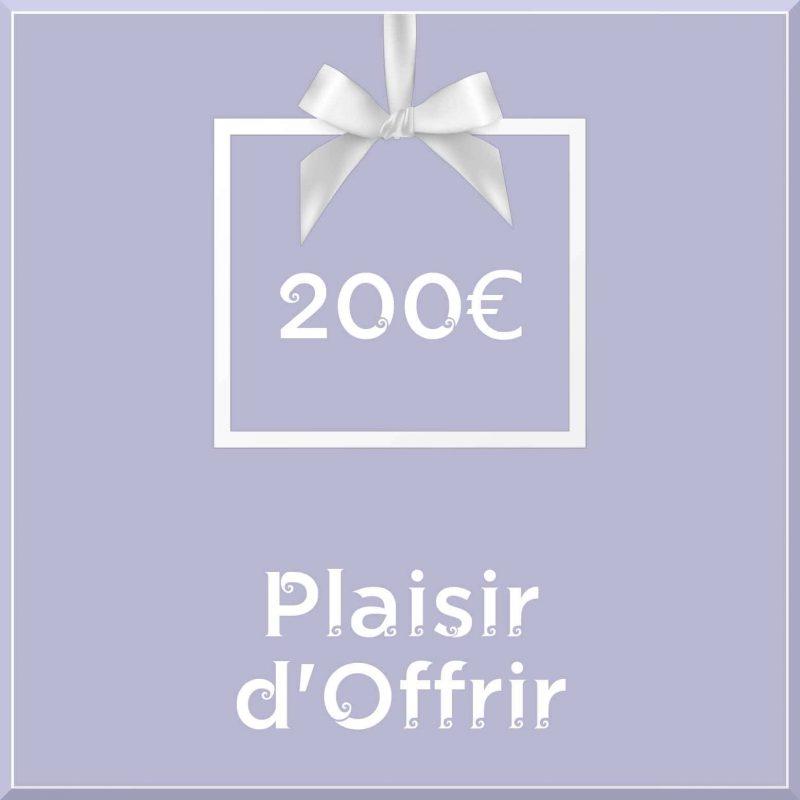 """Carte cadeau vegan """"Plaisir d'Offrir"""" 200€ - Precious Life"""