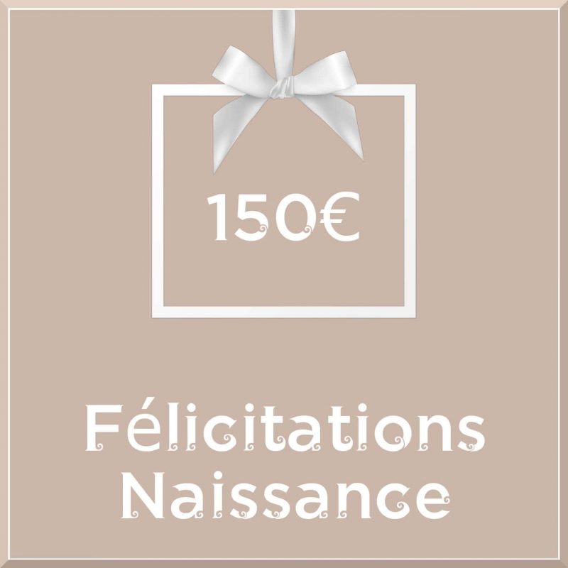 """Carte cadeau vegan """"Naissance"""" 150€ - Precious Life"""