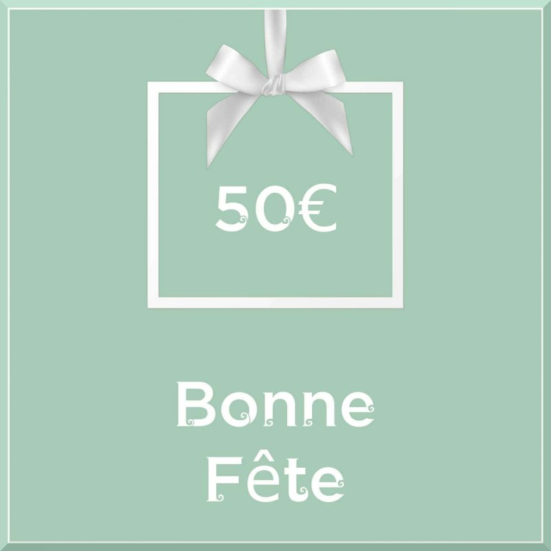 """Carte cadeau vegan """"Bonne Fête"""" 50€ - Precious Life"""