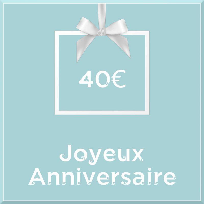 "Carte cadeau vegan ""Joyeux Anniversaire"" 40€ - Precious Life"