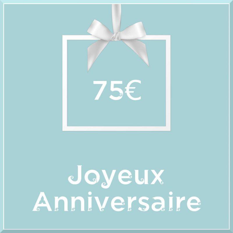 "Carte cadeau vegan ""Joyeux Anniversaire"" 75€ - Precious Life"