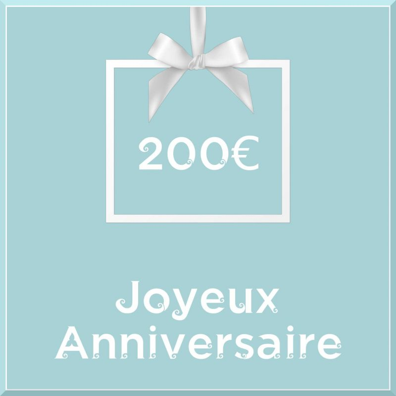 "Carte cadeau vegan ""Joyeux Anniversaire"" 200€ - Precious Life"