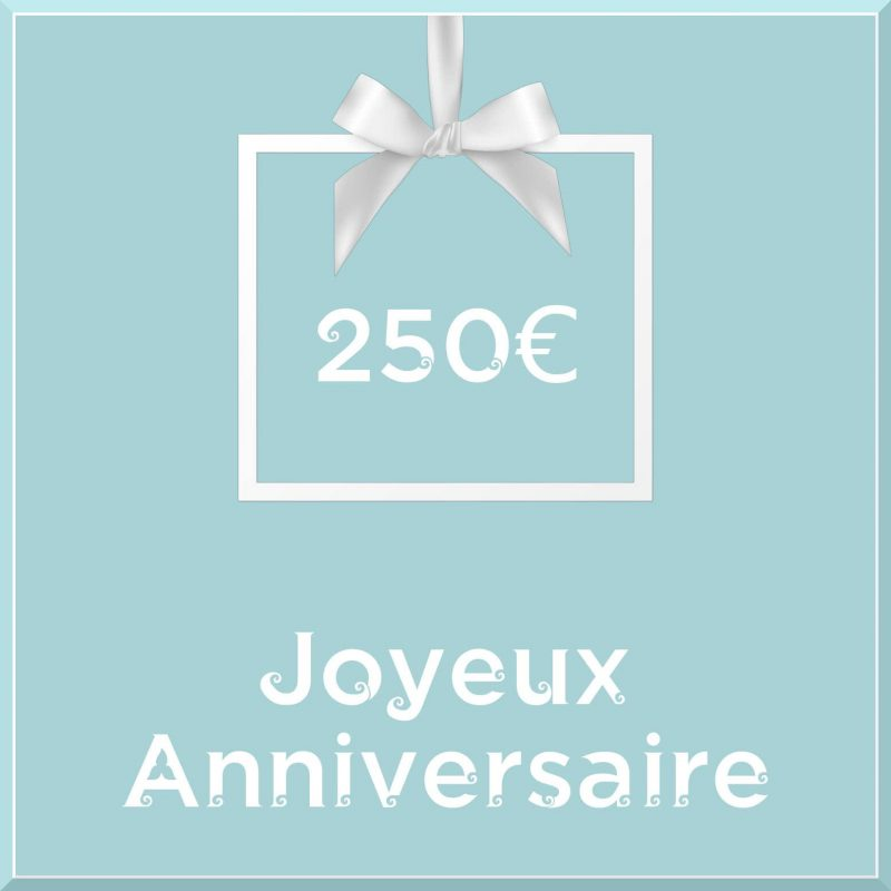 "Carte cadeau vegan ""Joyeux Anniversaire"" 250€ - Precious Life"