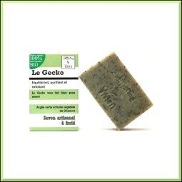 """""""Le Gecko"""" Savon SAF vegan & bio romarin, citron 100gr"""