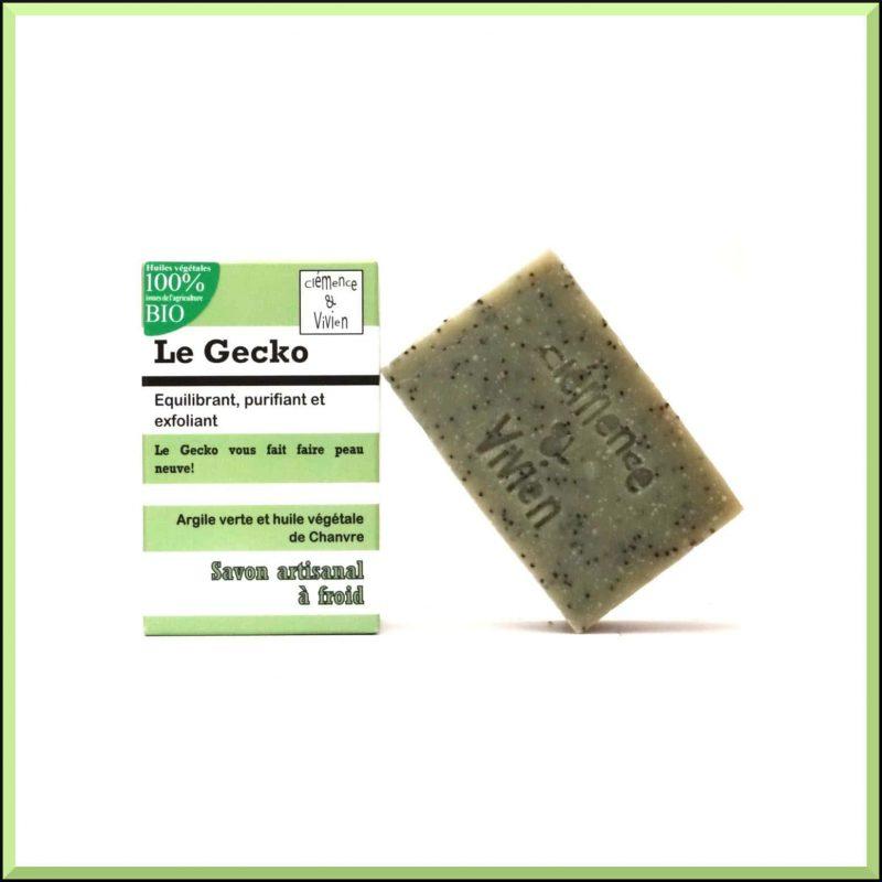 """Savon SAF Le Gecko """"Romarin & Citron"""" 100gr - Clémence & Vivien"""
