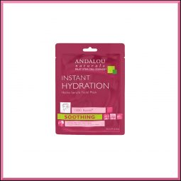 "Masque wrap Hydratation Intense ""Rose"" 18ml - Andalou Naturals"