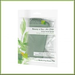 Eponge konjac corps au thé vert