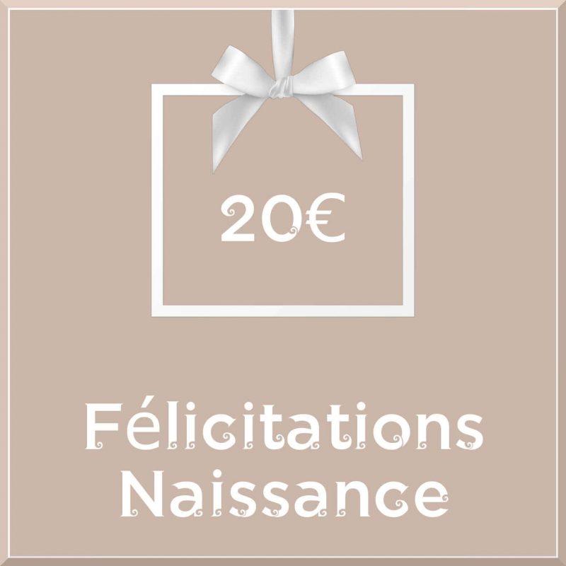 """Carte cadeau vegan """"Naissance"""" 20€ - Precious Life"""