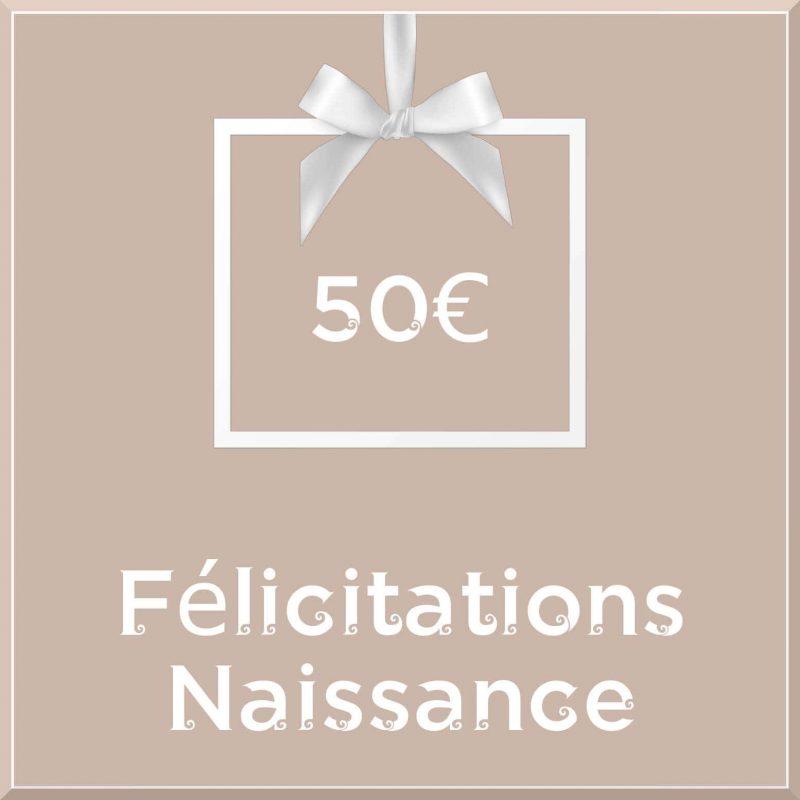 """Carte cadeau vegan """"Naissance"""" 50€ - Precious Life"""