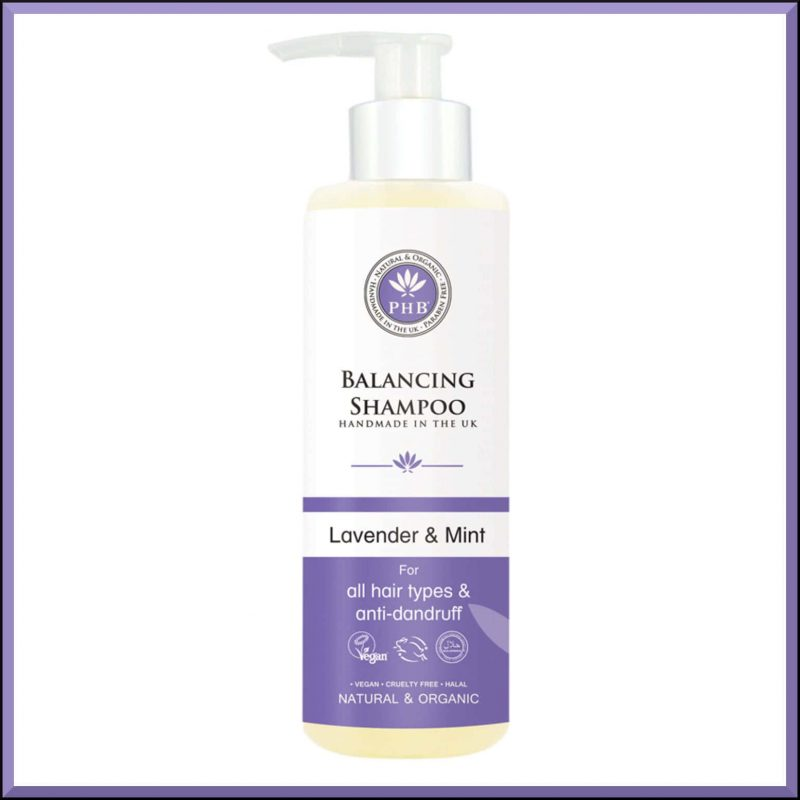 "Shampoing équilibrant ""Lavande & Menthe"" 250ml - PHB Ethical Beauty"