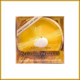 """Bougie de massage """"Coconut Sunrise"""" Coco, Agrumes & Mangue 160gr - Bubble Shack Hawaii"""