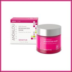 "Masque revitalisant ""Eau de Rose"" 50ml - Andalou Naturals"