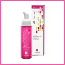 "Mousse nettoyante ""Rose"" 163ml - Andalou Naturals"
