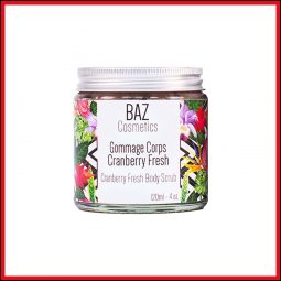 "Gommage corps vegan et naturel ""Cranberry Fresh"" - Baz Cosmetics"