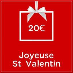 """Carte cadeau vegan """"Joyeuse Saint Valentin"""" 20€ - Precious Life"""
