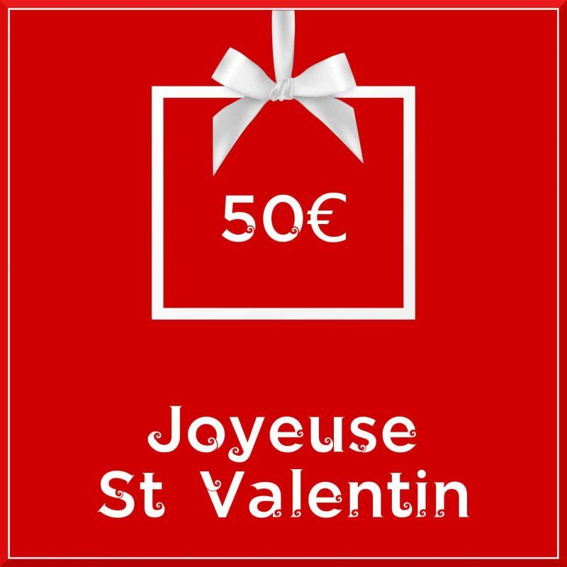 """Carte cadeau vegan """"Joyeuse Saint Valentin"""" 50€ - Precious Life"""