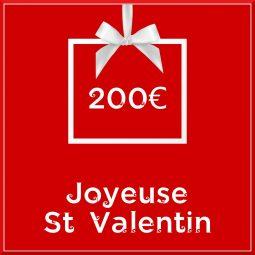 """Carte cadeau vegan """"Joyeuse Saint Valentin"""" 200€ - Precious Life"""