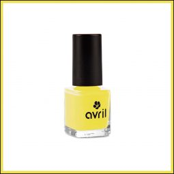 "Vernis à ongles mini ""Jaune Jonquille"" 7ml - Avril"