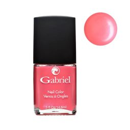 "Vernis à ongles vegan rose corail iridescent ""Pink Lady"" - Gabriel Color"