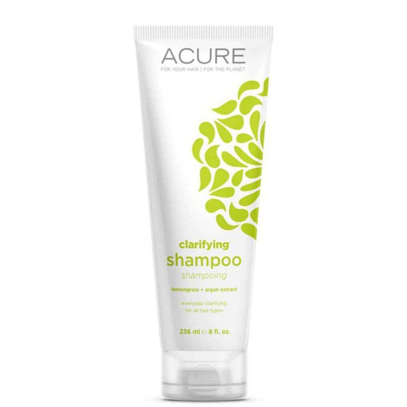 Shampoing vegan et bio clarifiant Citronnelle Argan - Acure Organics