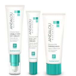 Coffret cadeau vegan soins visage peau sèche - Andalou Naturals
