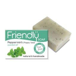 Savon SAF exfoliant vegan & naturel à la menthe poivrée et aux graines de pavot 95gr