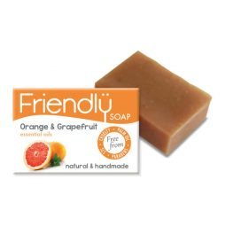 Savon SAF vegan & naturel à l'orange et au pamplemousse - Friendly Soap