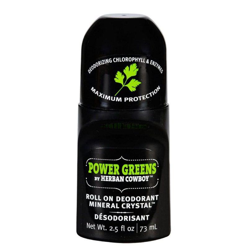Déodorant vegan & naturel roll on senteur Power Greens - Herban Cowboy