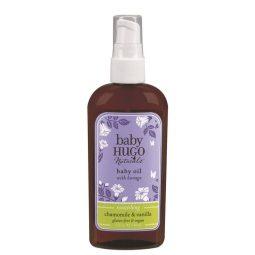 Huile de massage vegan senteur Camomille Vanille pour bébé - Hugo Naturals
