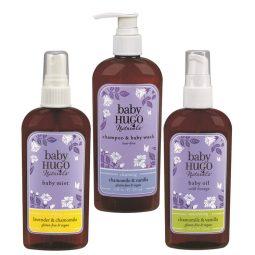 Coffret cadeau trio soins vegan & naturels pour bébé - Hugo Naturals