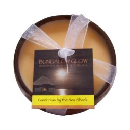 """Gardenias by the Seashack"" Bougie vegan & naturelle senteur gardenia 160gr"