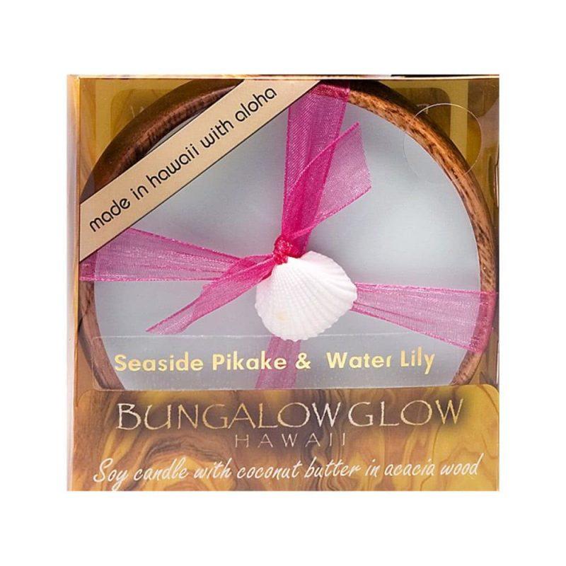 "Bougie de massage vegan ""Seaside Pikake & Water Lily"" - Bubble Shack Hawaii"