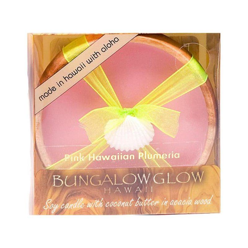 "Bougie de massage vegan ""Pink Hawaiian Plumeria"" - Bubble Shack Hawaii"
