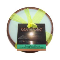 """Rocky Point Rumble"" Bougie vegan & naturelle senteur coco, citron, verveine 160gr"