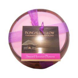 """Sweet Hawaiian Plumeria"" Bougie vegan & naturelle senteur frangipanier hawaiien 160gr"