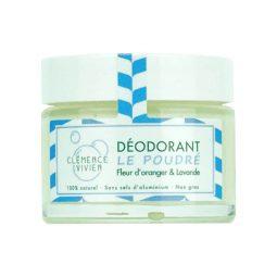 """""""Le Poudré"""" Déodorant baume vegan & bio senteur fleur d'oranger, lavande 50gr"""