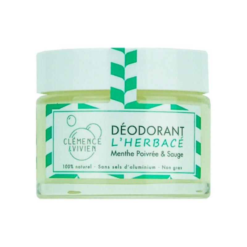 """Déodorant baume vegan """"L'Herbacé"""" - Clémence & Vivien"""